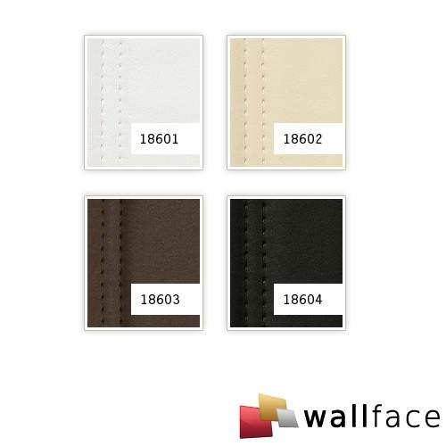 Wandpaneel Leder Design gesteppt Wandplatte WallFace 18601 LOUNGE Wandverkleidung selbstklebend matt-weiß | 2,60 qm – Bild 2