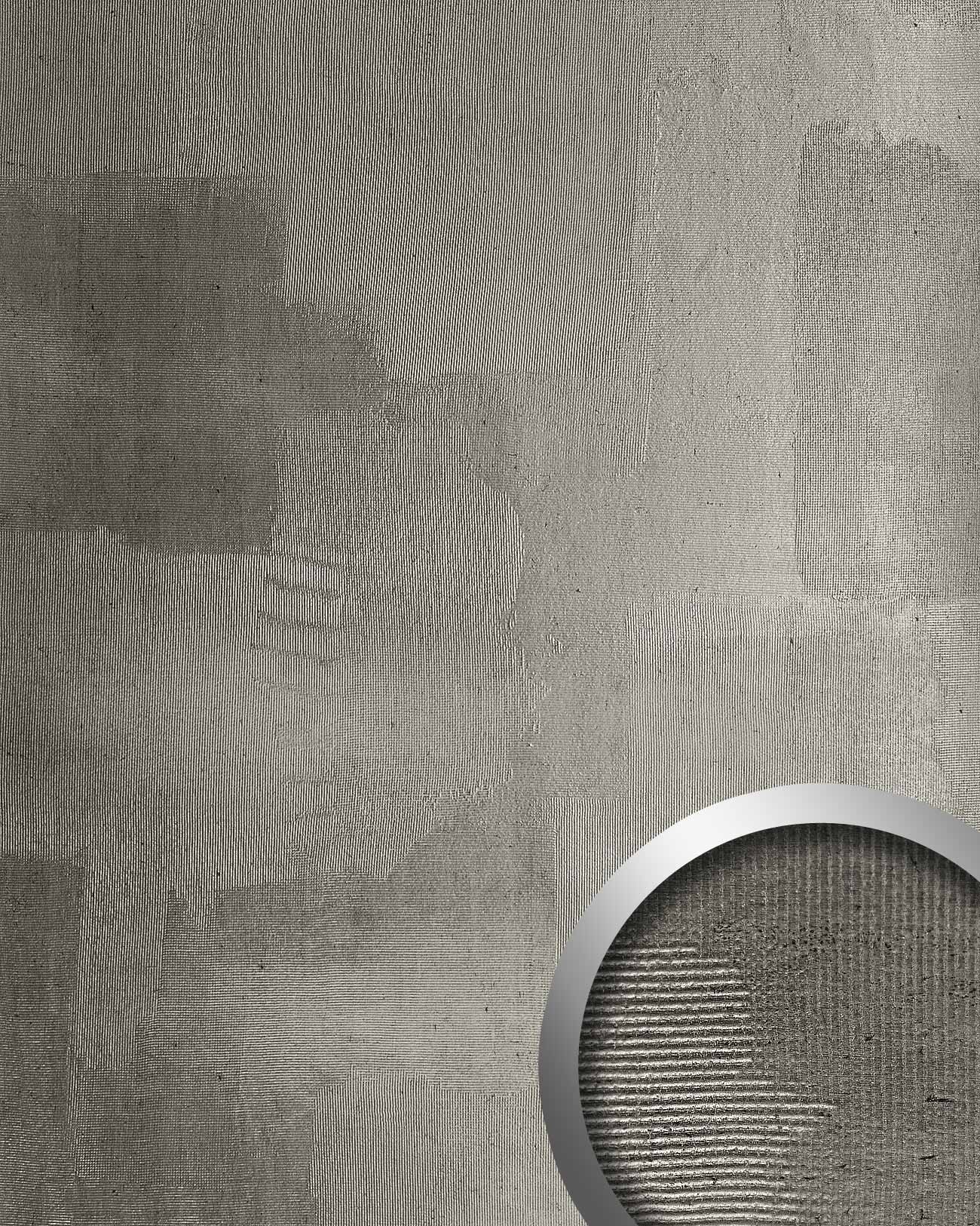 panel de pared decorativo wallface art efecto metal de pared lujoso color platino gris m