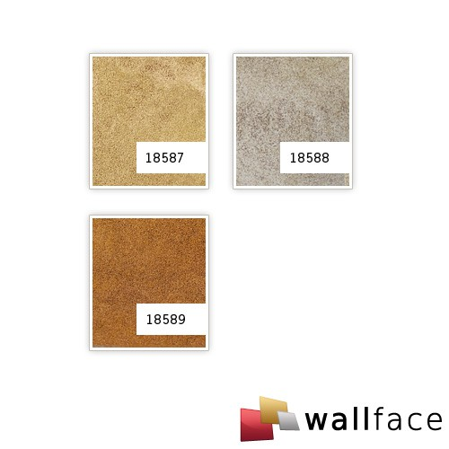 Revestimiento mural decorativo WallFace 18588 DECO Iron Age Panel de pared autoadhesivo aspecto metal vintage color platino beige | 2,60 m2 – Imagen 4