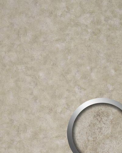 WallFace 18588 DECO Iron Age pannello murale autoadesivo aspetto metallo stile vintage platino beige 2,60 mq – Bild 1