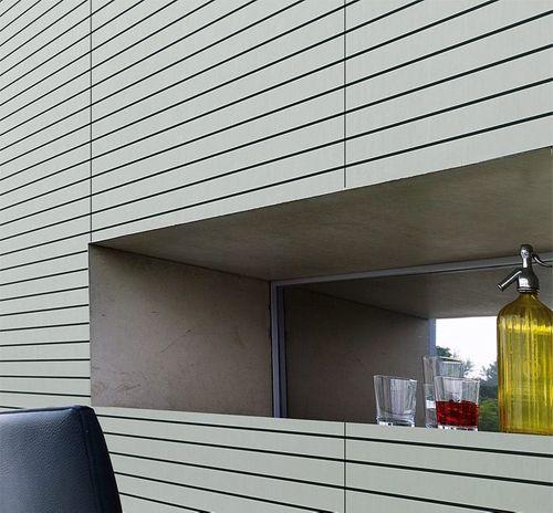Selbstklebendes Wandpaneel abriebfest WallFace 18585 RIGATO gebürstete Metalloptik Querstreifen silber schwarz | 2,6 qm – Bild 3