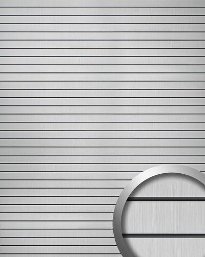 WallFace 18585 RIGATO pannello antiabrasivo aspetto metallo spazzolato a strisce trasversali argento nero 2,6 qm