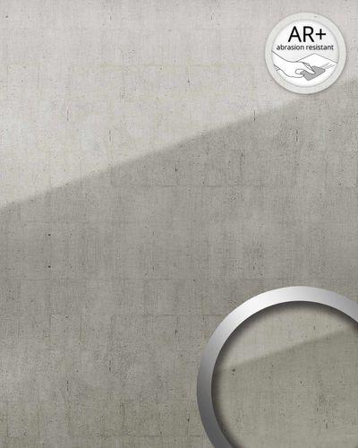 Wandverkleidung abriebfest selbstklebend WallFace 18001 Wandpaneel Glas-Optik Luxus Vintage Dekor platin grau 2,60 qm – Bild 2