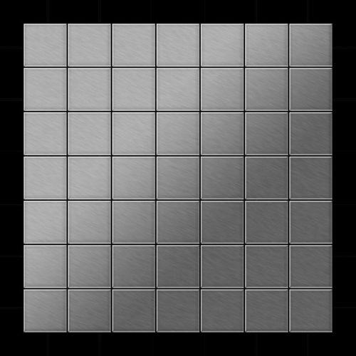 Mosaik Fliese massiv Metall Edelstahl gebürstet in grau 1,6mm stark ALLOY Attica-S-S-B 0,85 m2 – Bild 3