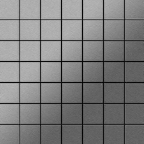 Mosaïque métal massif Carrelage Acier inoxydable brossé gris Grosseur 1,6mm ALLOY Attica-S-S-B 0,85 m2 – Bild 1
