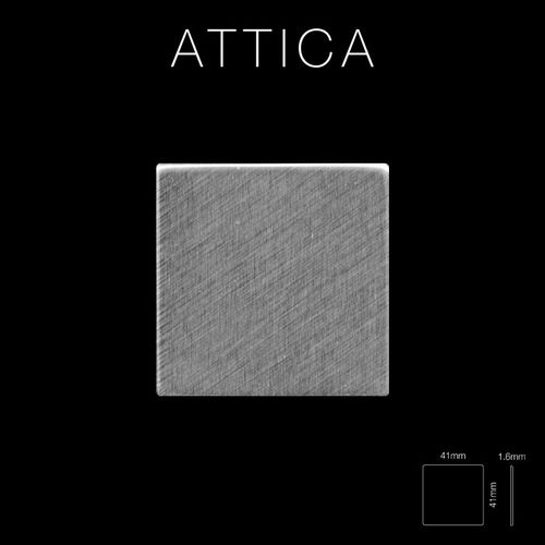 Mosaik Fliese massiv Metall Edelstahl gebürstet in grau 1,6mm stark ALLOY Attica-S-S-B 0,85 m2 – Bild 2