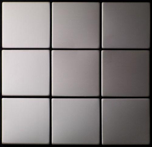 Mosaik Fliese massiv Metall Edelstahl matt in grau 1,6mm stark ALLOY Attica-S-S-MA 0,85 m2 – Bild 4