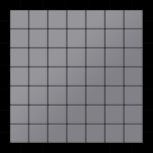 Mozaïektegels massief metaal roestvrij staal matglanzend grijs 1,6 mm dik ALLOY Attica-S-S-MA – Bild 3