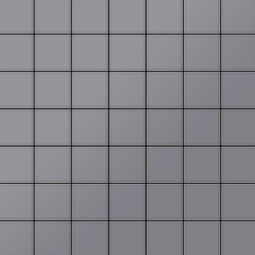 Mozaïektegels massief metaal roestvrij staal matglanzend grijs 1,6 mm dik ALLOY Attica-S-S-MA – Bild 1