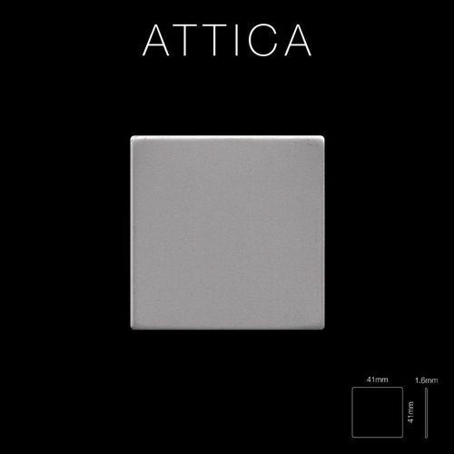 Mosaik Fliese massiv Metall Edelstahl matt in grau 1,6mm stark ALLOY Attica-S-S-MA 0,85 m2 – Bild 2
