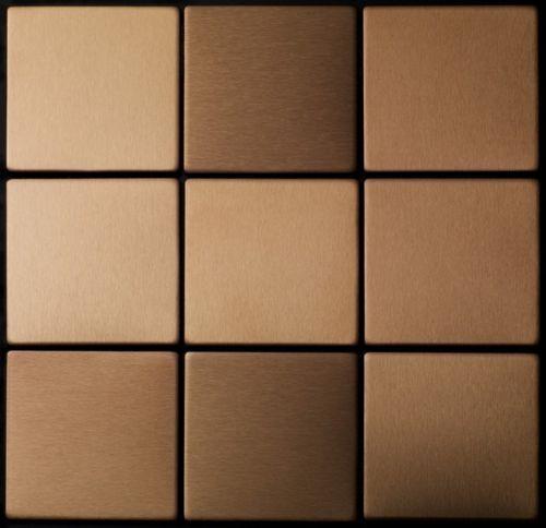 Mosaico metallo solido Titanio spazzolato Amber rame spesso 1,6 mm ALLOY Attica-Ti-AB – Bild 4