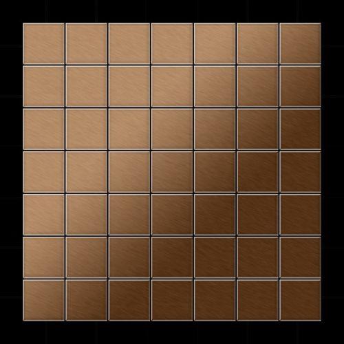 Mosaik Fliese massiv Metall Titan gebürstet in kupfer 1,6mm stark ALLOY Attica-Ti-AB 0,85 m2 – Bild 3