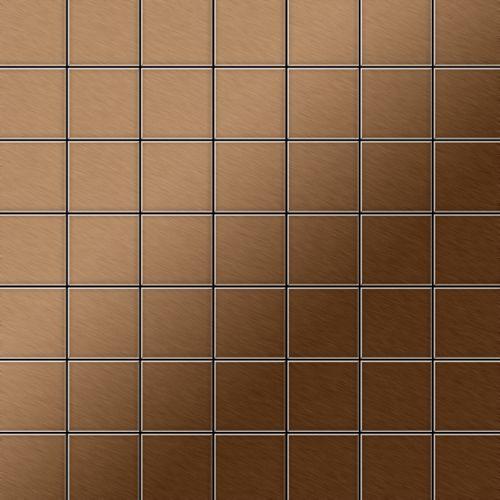 Mosaico metallo solido Titanio spazzolato Amber rame spesso 1,6 mm ALLOY Attica-Ti-AB – Bild 1