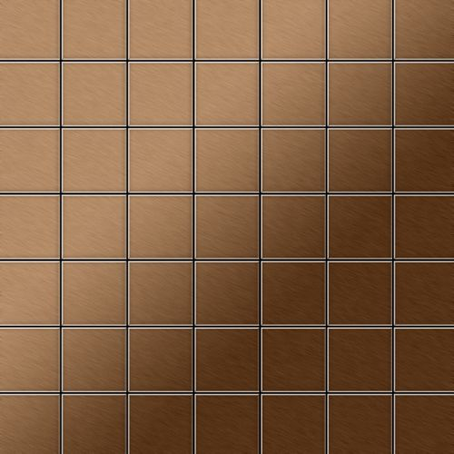 Mosaik Fliese massiv Metall Titan gebürstet in kupfer 1,6mm stark ALLOY Attica-Ti-AB 0,85 m2 – Bild 1