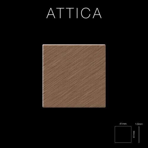 Mosaik Fliese massiv Metall Titan gebürstet in kupfer 1,6mm stark ALLOY Attica-Ti-AB 0,85 m2 – Bild 2