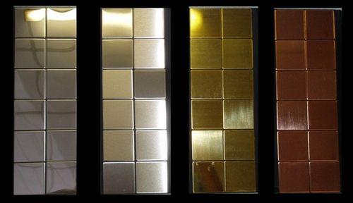 Mosaik Fliese massiv Metall Titan hochglänzend in kupfer 1,6mm stark ALLOY Attica-Ti-AM 0,85 m2 – Bild 6