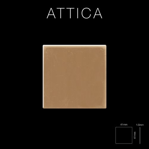 Mosaik Fliese massiv Metall Titan hochglänzend in kupfer 1,6mm stark ALLOY Attica-Ti-AM 0,85 m2 – Bild 2