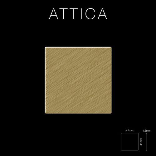 Mosaik Fliese massiv Metall Titan gebürstet in gold 1,6mm stark ALLOY Attica-Ti-GB 0,85 m2 – Bild 2