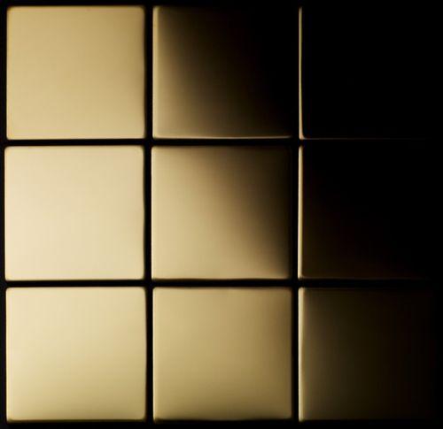 Mosaik Fliese massiv Metall Titan hochglänzend in gold 1,6mm stark ALLOY Attica-Ti-GM 0,85 m2 – Bild 4