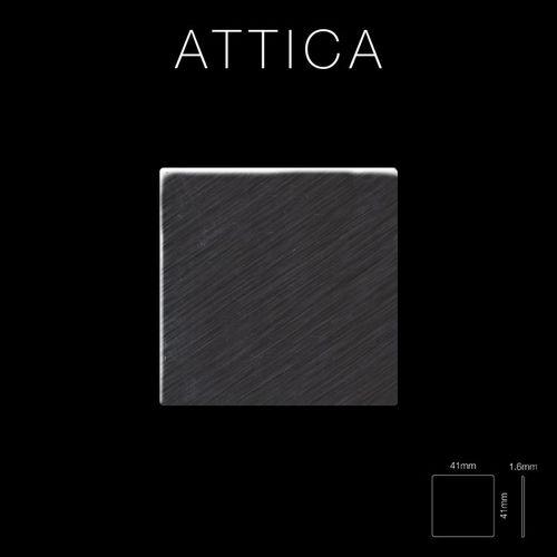 Mosaico metallo solido Titanio spazzolato Smoke grigio scuro spesso 1,6 mm ALLOY Attica-Ti-SB – Bild 2