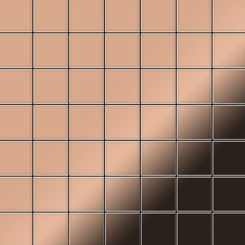 Mosaïque métal massif Carrelage Cuivre laminé cuivre Grosseur 1,6mm ALLOY Attica-CM 0,85 m2 – Bild 1