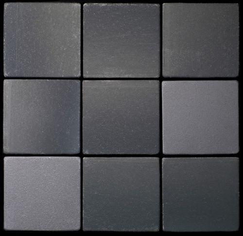 Mosaik Fliese massiv Metall Rohstahl gewalzt in grau 1,6mm stark ALLOY Attica-RS 0,85 m2 – Bild 4