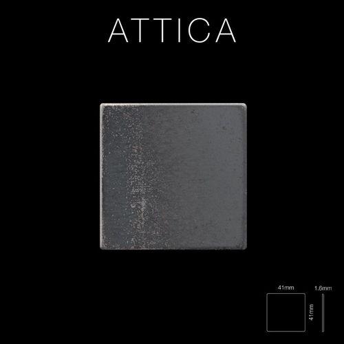 Mosaik Fliese massiv Metall Rohstahl gewalzt in grau 1,6mm stark ALLOY Attica-RS 0,85 m2 – Bild 2