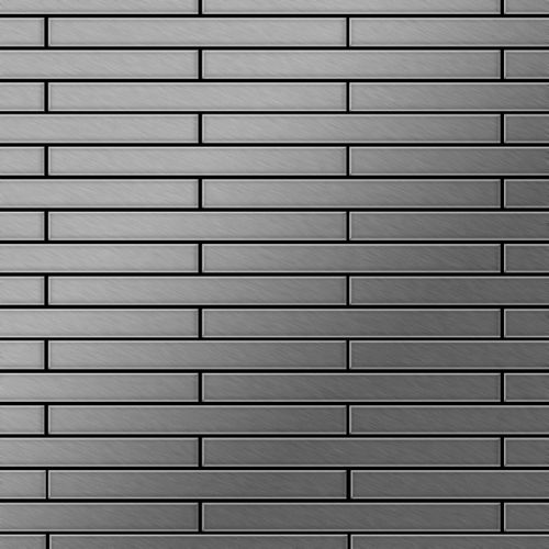 Azulejo mosaico de metal sólido Acero inoxidable cepillado gris 1,6 mm de grosor ALLOY Avenue-S-S-B 0,74 m2 – Imagen 1