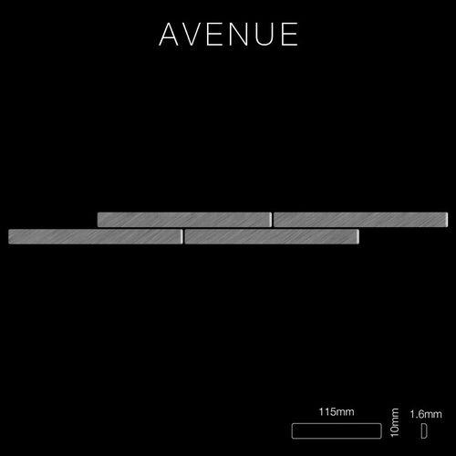 Mozaïektegels massief metaal roestvrij staal geborsteld grijs 1,6 mm dik ALLOY Avenue-S-S-B – Bild 2