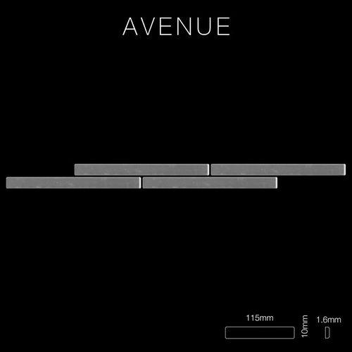 Mozaïektegels massief metaal roestvrij staal hoogglanzend grijs 1,6 mm dik ALLOY Avenue-S-S-M – Bild 2