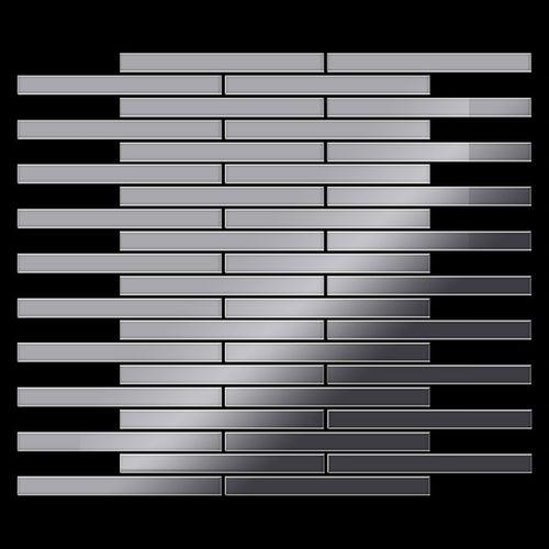 Mosaik Fliese massiv Metall Edelstahl marine hochglänzend in grau 1,6mm stark ALLOY Avenue-S-S-MM 0,74 m2 – Bild 3