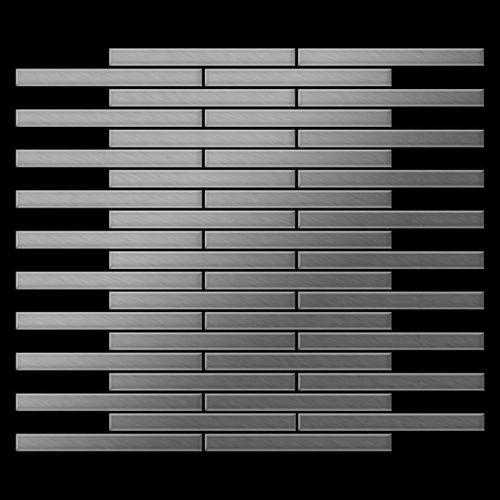 Mosaïque métal massif Carrelage Acier inoxydable Marine brossé gris Grosseur 1,6mm ALLOY Avenue-S-S-MB 0,74 m2 – Bild 3