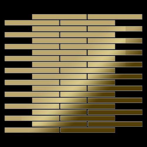 Mosaïque métal massif Carrelage Titane miroir Gold doré Grosseur 1,6mm ALLOY Avenue-Ti-GM 0,74 m2 – Bild 3