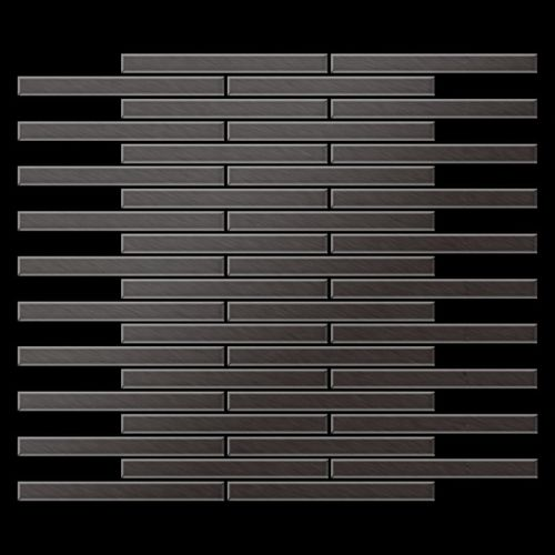Mozaïektegels massief metaal titaan Smoke geborsteld grijs 1,6 mm dik ALLOY Avenue-Ti-SB – Bild 3