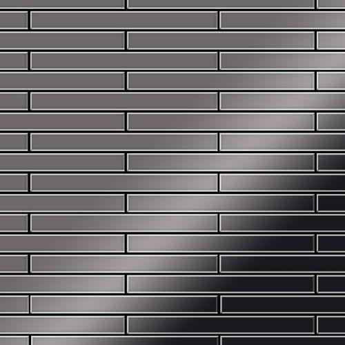 Mozaïektegels massief metaal titaan Smoke hoogglanzend grijs 1,6 mm dik ALLOY Avenue-Ti-SM – Bild 1