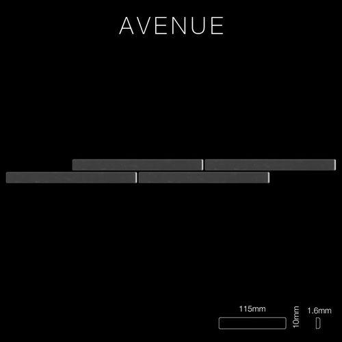 Mozaïektegels massief metaal titaan Smoke hoogglanzend grijs 1,6 mm dik ALLOY Avenue-Ti-SM – Bild 2