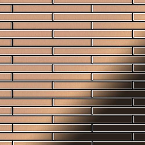 Mosaïque métal massif Carrelage Cuivre laminé cuivre Grosseur 1,6mm ALLOY Avenue-CM 0,74 m2 – Bild 1
