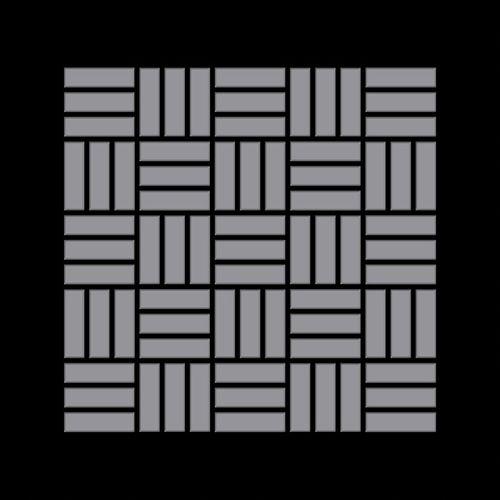 Mosaik Fliese massiv Metall Edelstahl matt in grau 1,6mm stark ALLOY Basketweave-S-S-MA 0,82 m2 – Bild 3