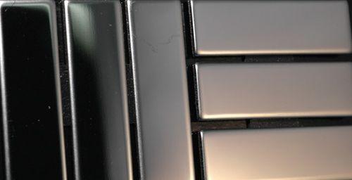 Mosaico metallo solido Acciaio inossidabile Marine specchiato grigio spesso 1,6 mm ALLOY Basketweave-S-S-MM – Bild 4