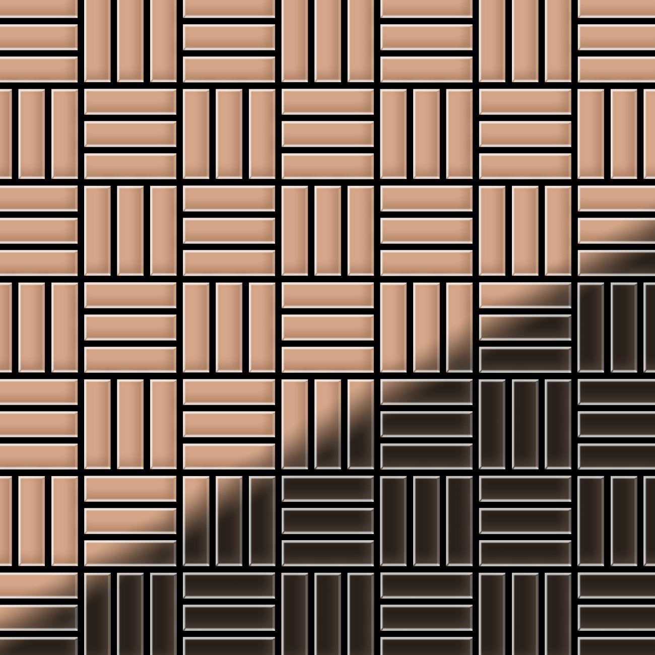 mosa que m tal massif carrelage cuivre lamin cuivre grosseur 1 6mm alloy basketweave cm 0 82 m2. Black Bedroom Furniture Sets. Home Design Ideas