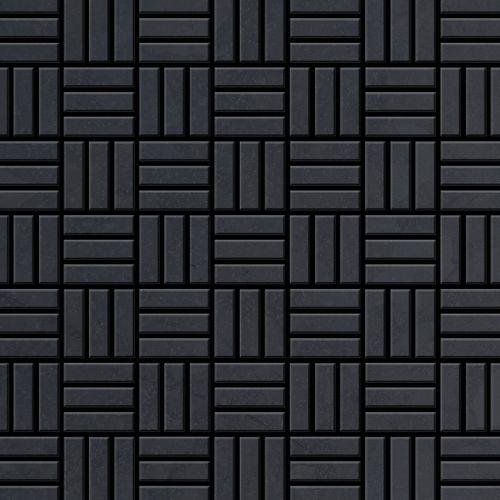 Mosaico metallo solido Acciaio grezzo laminato grigio spesso 1,6 mm ALLOY Basketweave-RS – Bild 1