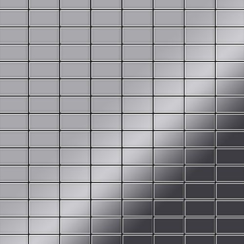 Mozaïektegels massief metaal roestvrij staal hoogglanzend grijs 1,6 mm dik ALLOY Bauhaus-S-S-M – Bild 1