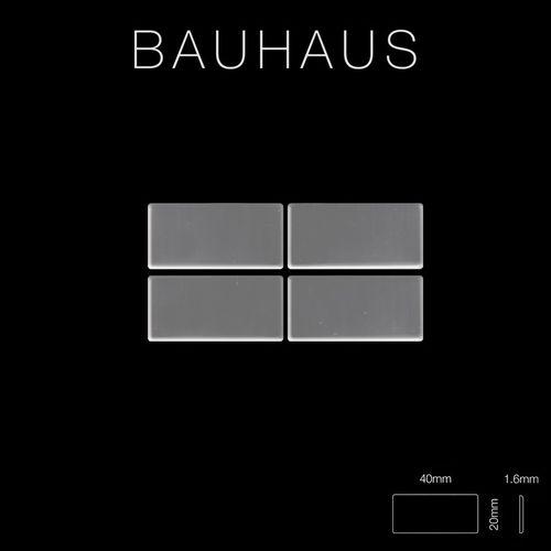Mozaïektegels massief metaal roestvrij staal hoogglanzend grijs 1,6 mm dik ALLOY Bauhaus-S-S-M – Bild 2