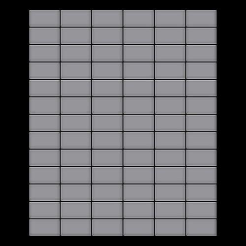 Mosaik Fliese massiv Metall Edelstahl matt in grau 1,6mm stark ALLOY Bauhaus-S-S-MA 1,05 m2 – Bild 3