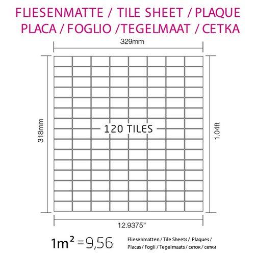 Azulejo mosaico de metal sólido Acero inoxidable Marine cepillado gris 1,6 mm de grosor ALLOY Bauhaus-S-S-MB 1,05 m2 – Imagen 5