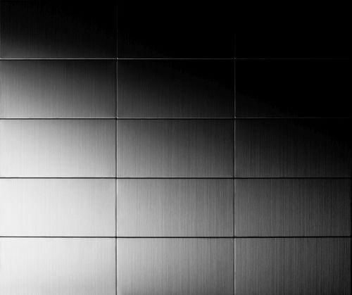 Azulejo mosaico de metal sólido Acero inoxidable Marine cepillado gris 1,6 mm de grosor ALLOY Bauhaus-S-S-MB 1,05 m2 – Imagen 4