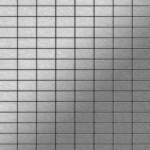 Mozaïektegels massief metaal roestvrij staal Marine geborsteld grijs 1,6 mm dik ALLOY Bauhaus-S-S-MB   – Bild 1