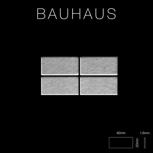 Azulejo mosaico de metal sólido Acero inoxidable Marine cepillado gris 1,6 mm de grosor ALLOY Bauhaus-S-S-MB 1,05 m2 – Imagen 2