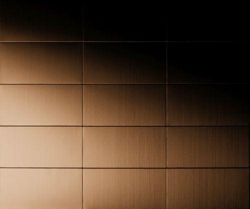 Mosaik Fliese massiv Metall Titan gebürstet in kupfer 1,6mm stark ALLOY Bauhaus-Ti-AB 1,05 m2 – Bild 4