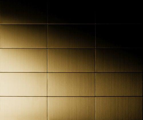 Mosaik Fliese massiv Metall Titan gebürstet in gold 1,6mm stark ALLOY Bauhaus-Ti-GB 1,05 m2 – Bild 5